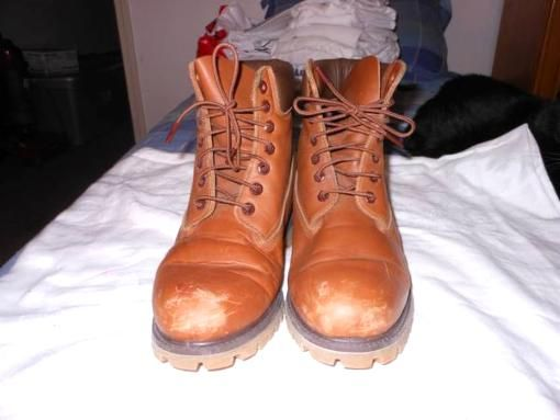 Men Working Timberland Boots size 10M - $40  - $40 on #Explorite via Explorite.com Hi there I have men timberland working boots for sale at $40.00 and there in good condition all you need for the front of the b... #timberland #boots #manshoes #UMICH