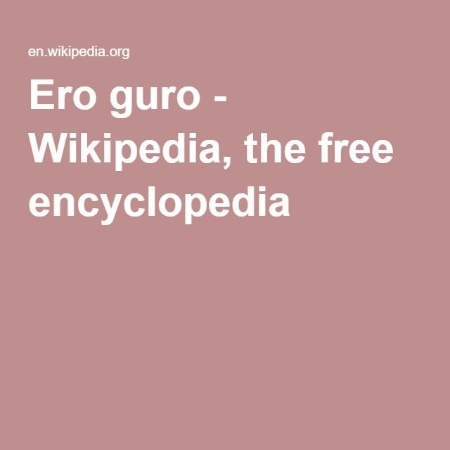 Ero guro - Wikipedia, the free encyclopedia
