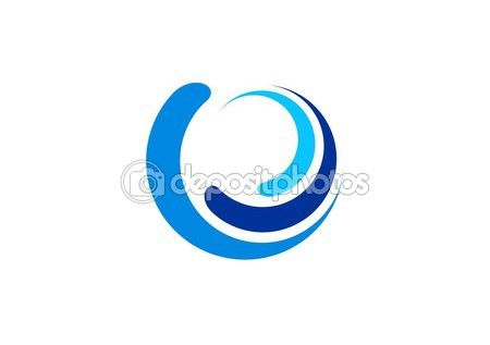 #circle #wave #logo, #sphere #water #blue #symbol, #swirl #wind #icon #vector #design - http://depositphotos.com?ref=3904401