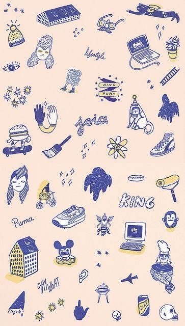 King PumaIllustration Adorable, Art Design Illustrast, Matching Colours, Art Prints, Graphics Design, Pattern Graph, King Pumas, Prints Prints, Illustration Drawing