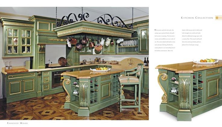 Luxusní italská kuchyně Francesco Molon v popředí s vinotékou, více zde: http://www.saloncardinal.com/francesco-molon-f65