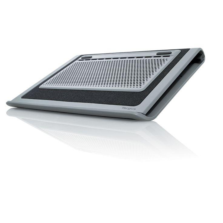 Plateau refroidisseur AWE8001EU : Performance pour l'ordinateur, confort pour qui l'utilise. Support de refroidissement compact et silencieux. Double ventilateurs pour un meilleur refroidissement. Compatible avec ordinateurs portables 17''. Angle d'inclinaison réglable. Réf. AWE8001EU. http://www.exertisbanquemagnetique.fr/info-marque/targus/ #Targus #Plateau #Refroidisseur #Ordinateur