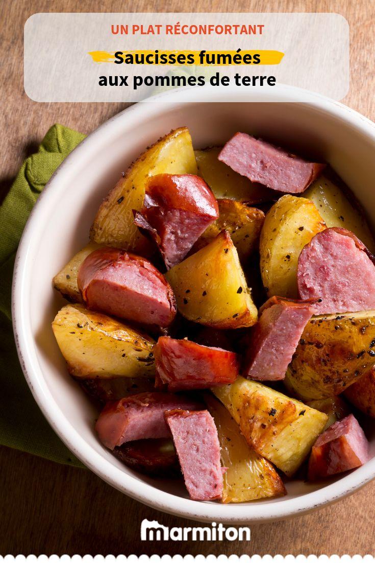 Saucisses fumées aux pommes de terre et sauce douceur
