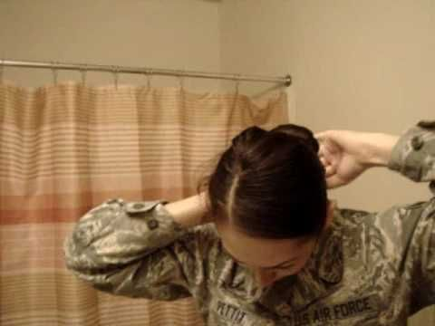 "The Sock Bun (""Combat Bun"") revealed...as worn by female members of the military."