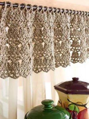 Creativos Diseños de Cortinas en Crochet
