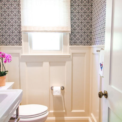 wainscoting in half bath