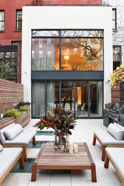 West Village Townhouse NYC modern patio | house and home ideas