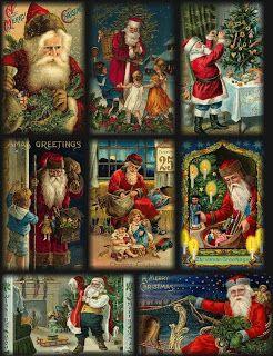 Free Vintage Santa Tags Printable ~ Creative Glitter