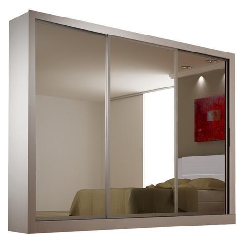 Guarda Roupa 3 Portas com Espelho Monet 100% MDF Novo Horizonte
