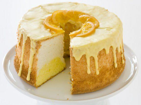 Rezept: Engelskuchen mit Orange (Angel Food Cake)