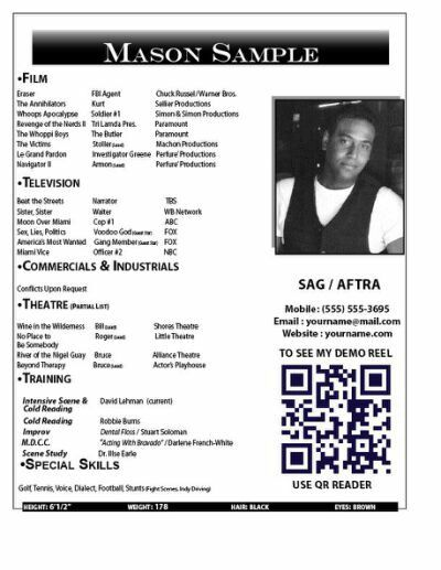The  Best Acting Resume Template Ideas On   Free