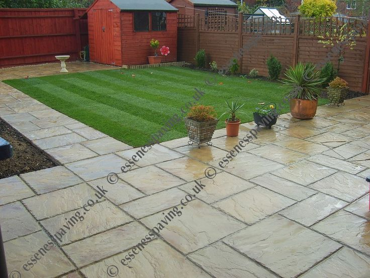 Cool back yard patio ideas bing images for the home for Paving ideas for small gardens
