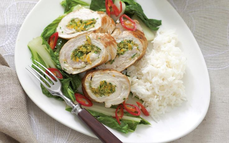 Ready steady cook - orange turkey with choy sum