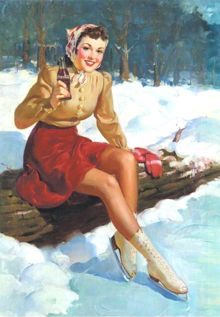 Coca Cola ad - Haddon Hubbard Sundblom (American, 1899-1976)