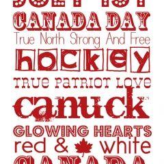 Canada Day Word art