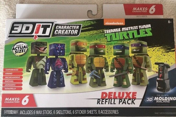 3DiT Character Creator Teenage Mutant Ninja Turtles Deluxe Refill Pack  #3DiT