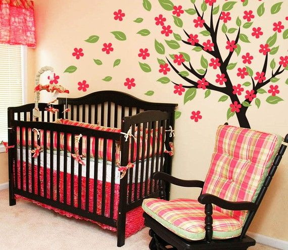 - Blowing Tree w/Blossoms - Baby room