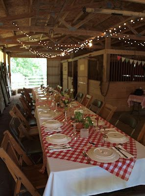 Great idea for an anniversary party or graduation party | Italian Barn Party ideas | Italian Dinner