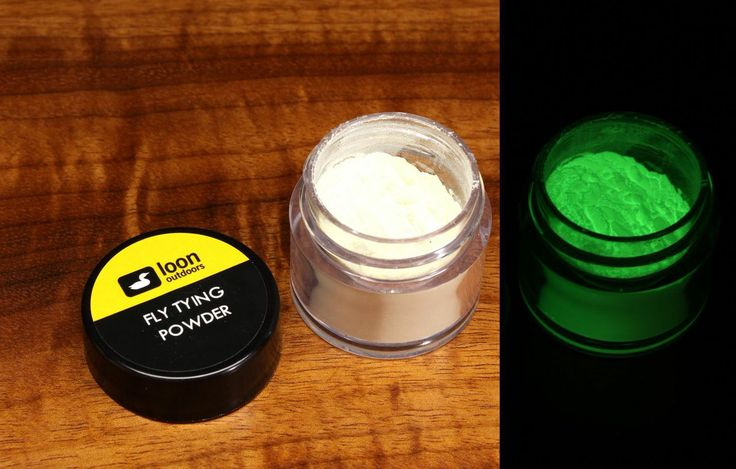 Loon Phosphorescent Powder mixes with UV Resins and standard cements to add glo in the dark qualities to your fly patterns.  Phosphorescent fly tying powder is a super cool easy to work with powder that will mix with traditional cements and of course all Loon products. Non-toxic powder creates a glow feature to any fly pattern.   We like to use a loon a mixing cup to create a cement or fly coating with Phosphorescent fly tying powder.   As always free shipping and no sales tax are available…