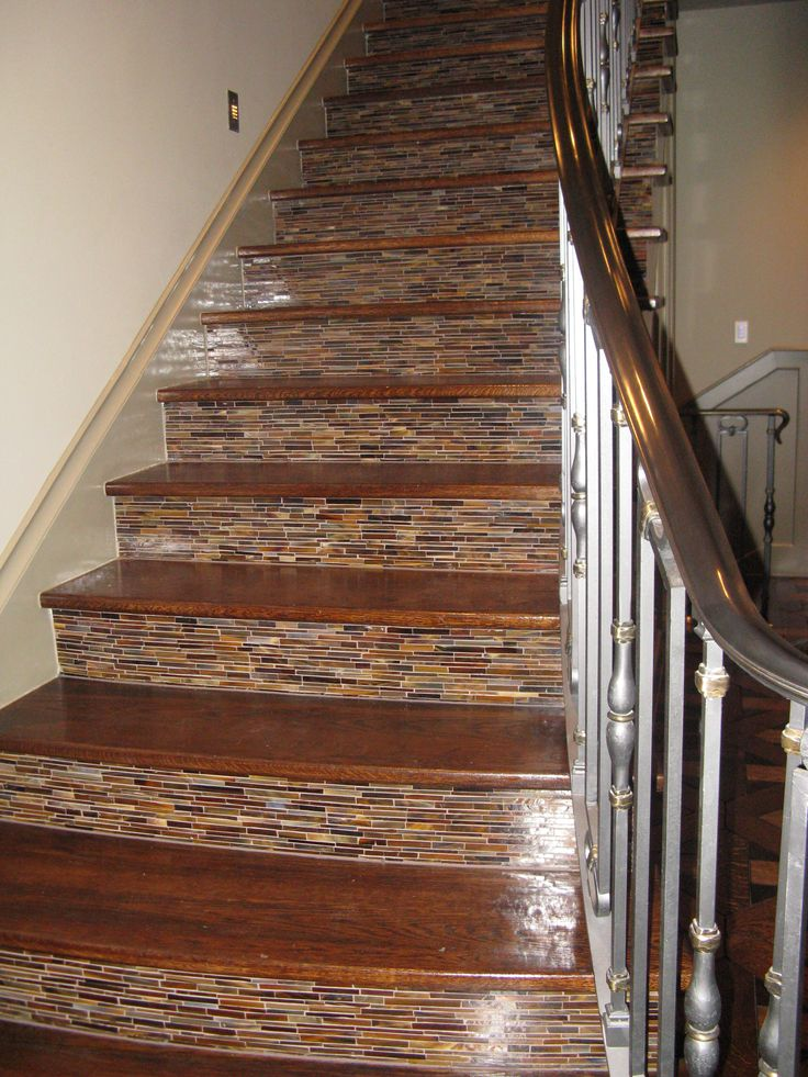 Fabulous Staircase With Tile Up The Risers. Tiled StaircaseStaircase  RemodelStaircase IdeasStair ...