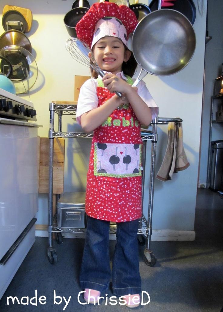 17 best images about kids apron  u0026 chef hat on pinterest