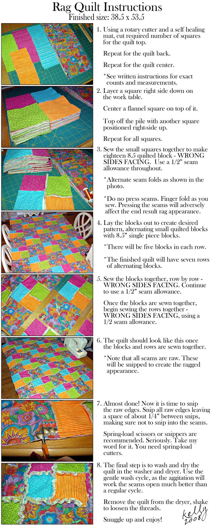 rag quilt instructions | Quilt | Pinterest