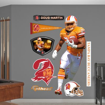 NFL Tampa Bay Buccaneers Doug Martin - Throwback Wall Decal Sticker