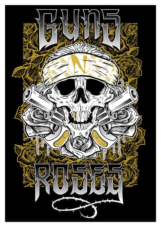 Guns n Roses Poster, available at 45x32cm.This poster is printed on matt coated 350 gram paper.