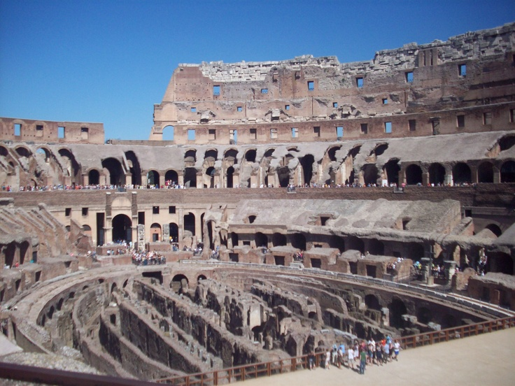 Inside the colleseum