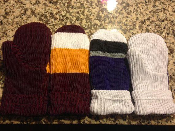 Fleece lined Custom Team Hockey Sock Mittens