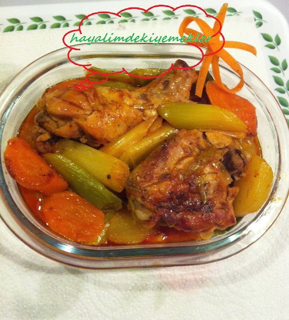 Pırasalı Tavuk Yemegi tarifi;pirasali yemek tarifleri