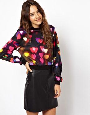 ASOS Sweatshirt with Bokeh Print