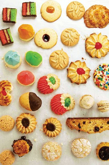A variety of Italian Christmas Cookies via saveur.com   (OMG - the memories!  Pignoli cookies and rainbows are my favorites!!!!)