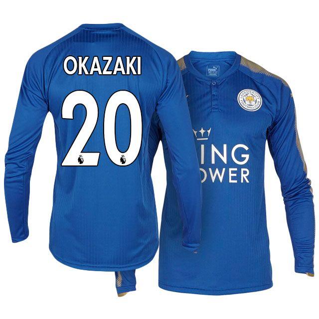 2017-18 Leicester City LS Shirt Jersey shinji okazaki Home Kit