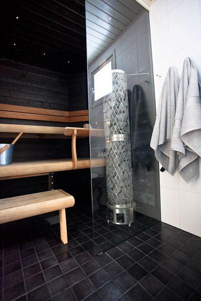 musta sauna,sauna,led-valot
