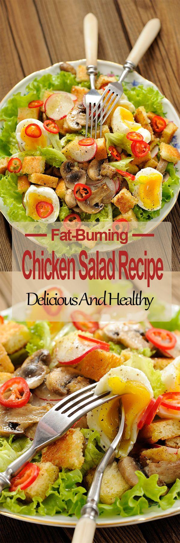 Fat Burning Chicken Salad Recipe – Fitness Diet Recipes