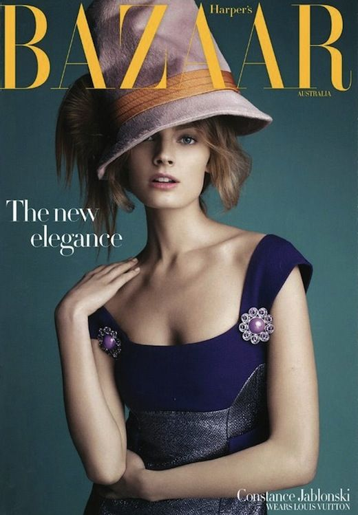 Constance Jablonski for Harper's Bazaar Australia wearing Louis Vuitton