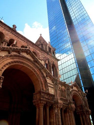 Trinity Church, Boston and John Hancock Tower