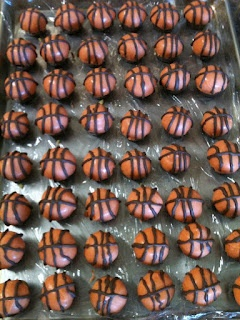 Basketball cake balls for march madness... total bracket buster!