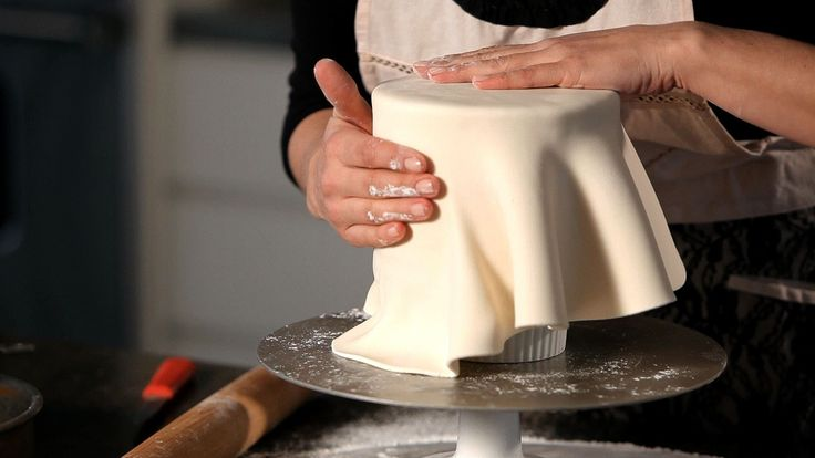 How to Cover a Cake in Fondant   Wedding Cake Decorating