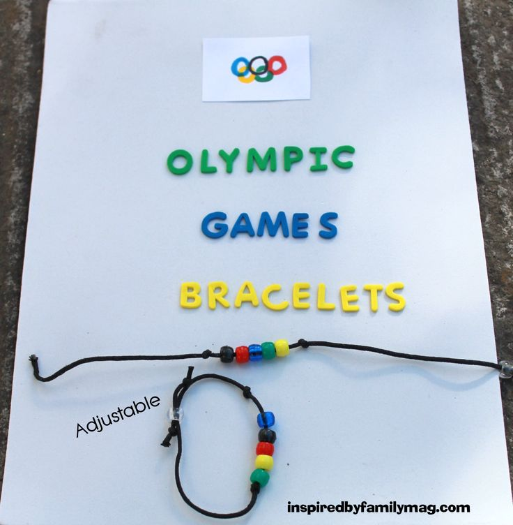 Olympic Games Bracelet and olympics party ideas