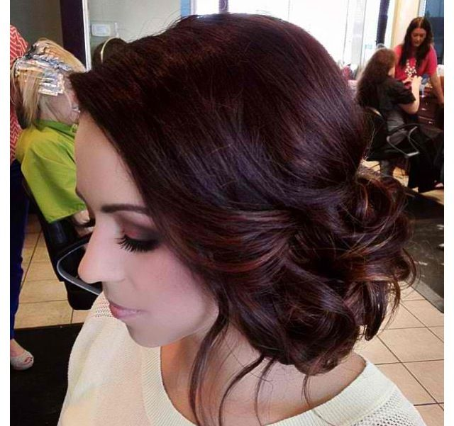 Side UpDo For Homecoming Prom Wedding
