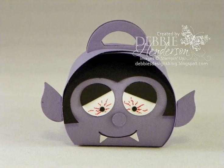 Halloween Dracula made with Stampin' Up! Curvy Keepsakes Box Die. Debbie Henderson, Debbie's Designs.