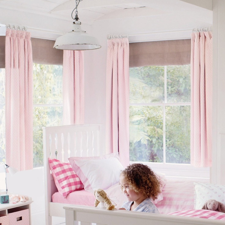 Girls Bedroom Accessories Part - 48: Buy Childrens Bedroom U003e Childrens Bedroom Accessories U003e Pink Polka Dot  Blackout Curtains From The White