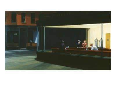 Classic art - Nighthawks by Hopper