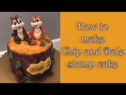 How to make a Chip and Dale stump cake / Jak zrobić tort z Chip i Dale - YouTube