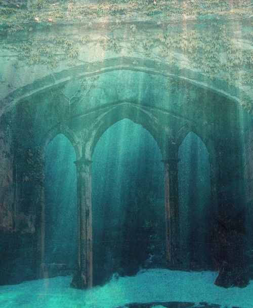 Abandoned Under The Sea. This is like something out of the Little Mermaid!                                                                                                                                                                                 More