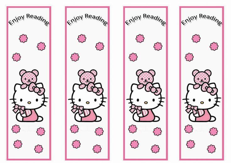 Hello Kitty printable bookmarks Patterns Pinterest Bookmarks