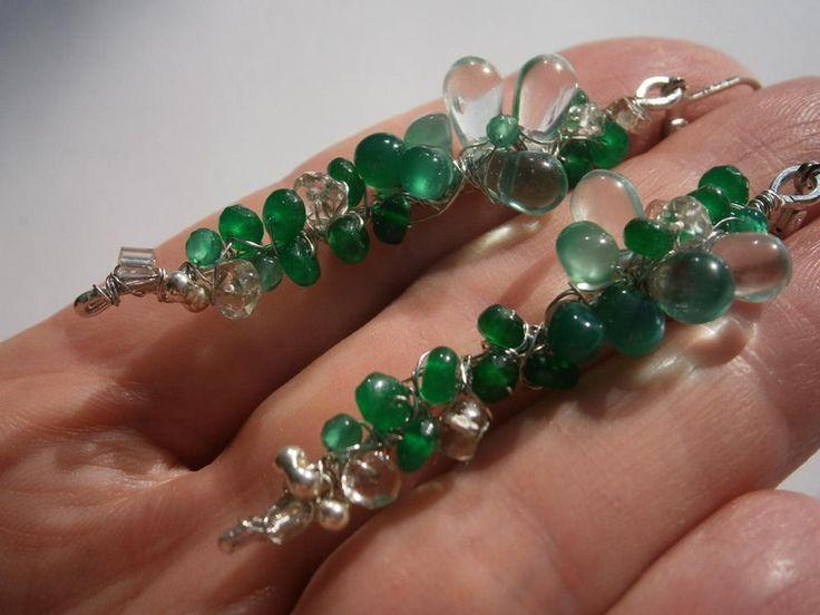 Ohrringe,grün,Smaragd,Achat,Onyx,Amethyst, von kunstpause auf DaWanda.com