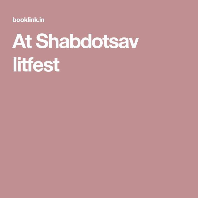 At Shabdotsav litfest